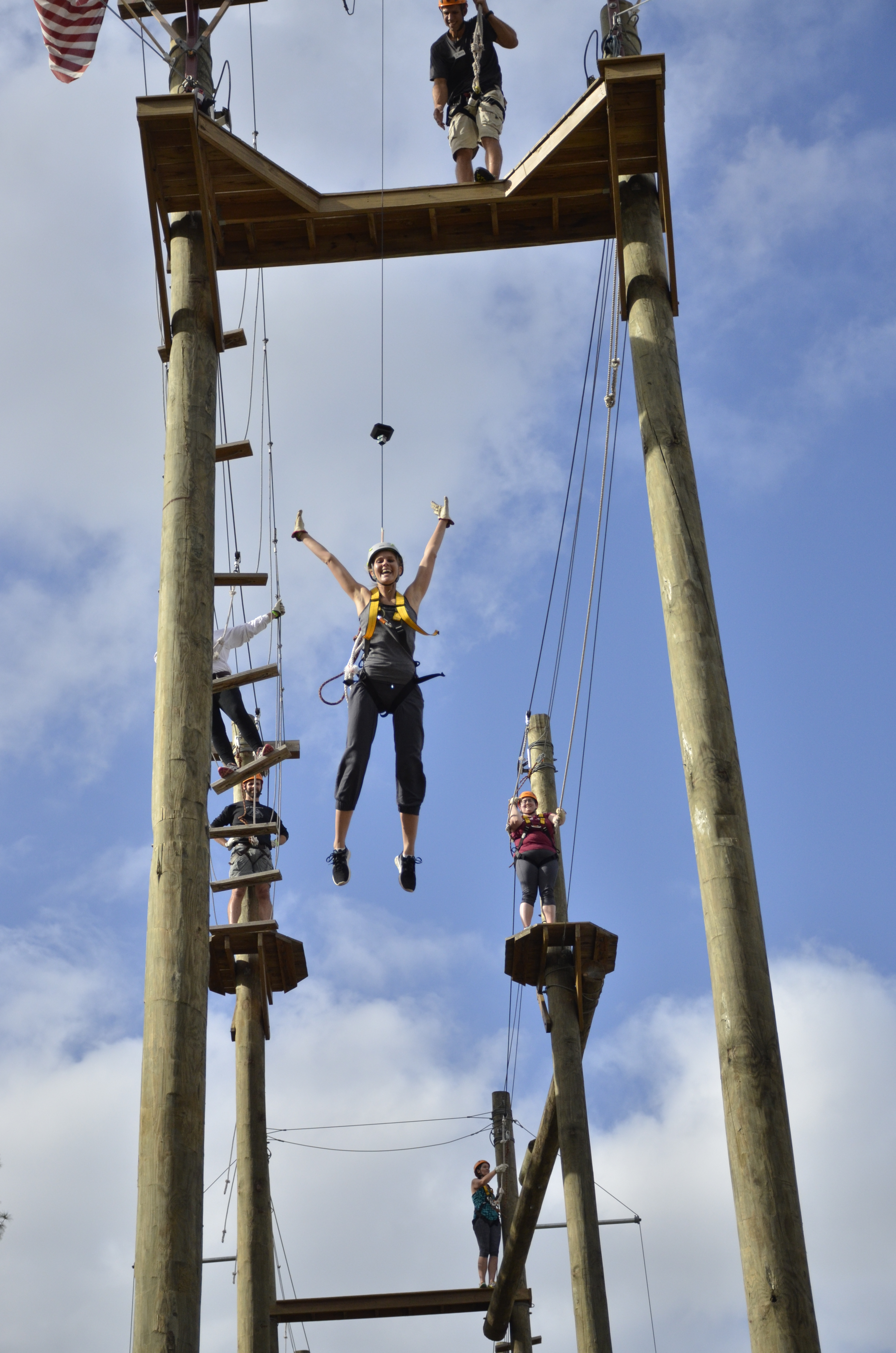 Meagan on the high ropes